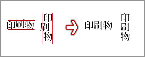 文字の移動(校正)