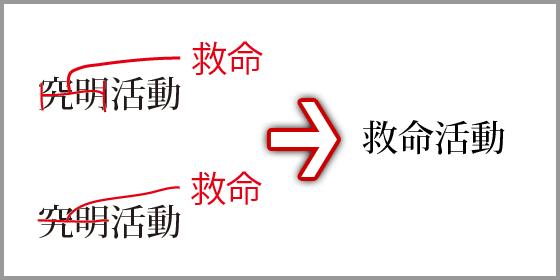 文字の訂正(2)