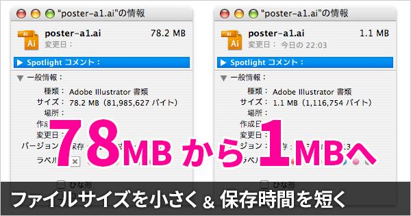 Illustratorで保存時間とファイルサイズを劇的に減らす簡単な方法