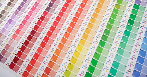 包装紙 カラーチャート柄 / 737×480mm