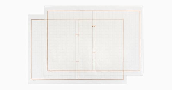グラシン原稿用紙 マーブル巻 / A4サイズ