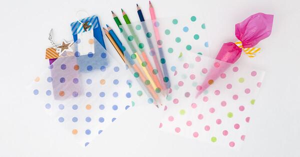 カラーグラシン 水玉 / 150×150mm