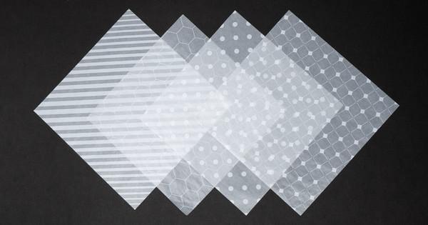 カラーグラシン ホワイト柄 / 150×150mm