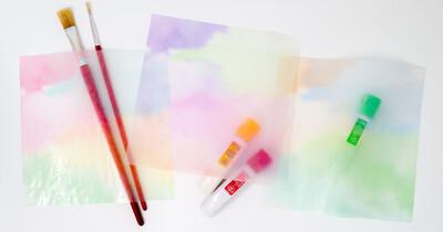 カラーグラシン 水彩風グラデ / 150×150mm