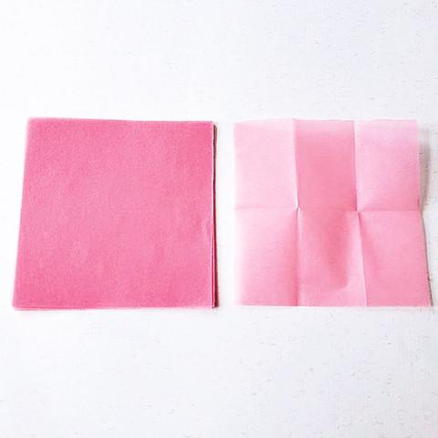 グラシン紙で手作り薔薇のコサージュ-02