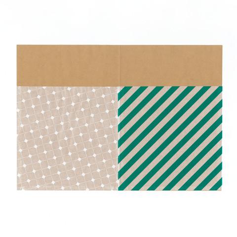 グラシン紙とクラフト紙でチラ見せ封筒ラッピング-03