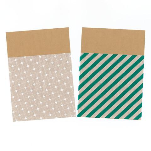 グラシン紙とクラフト紙でチラ見せ封筒ラッピング-04