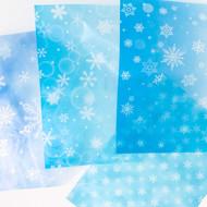 A4グラシンペーパー 雪の結晶 / A4サイズ