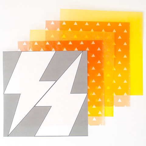 和柄グラシン紙の雷ラッピング-02