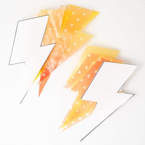 和柄グラシン紙の雷ラッピング-03
