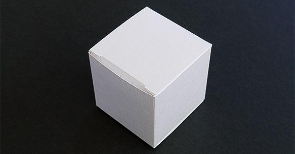 ギフトボックス 白60×60×60mm