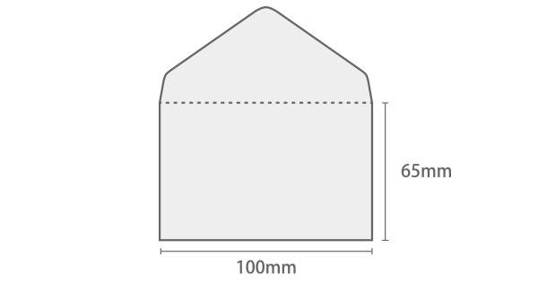 グラシン封筒 名刺サイズ 白 / 100×65mm