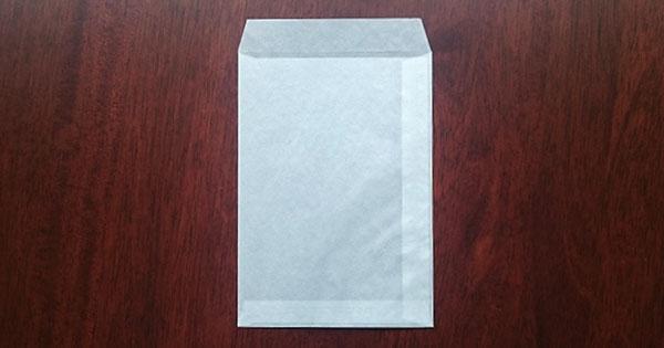グラシン封筒 縦形 白 / 162×114mm
