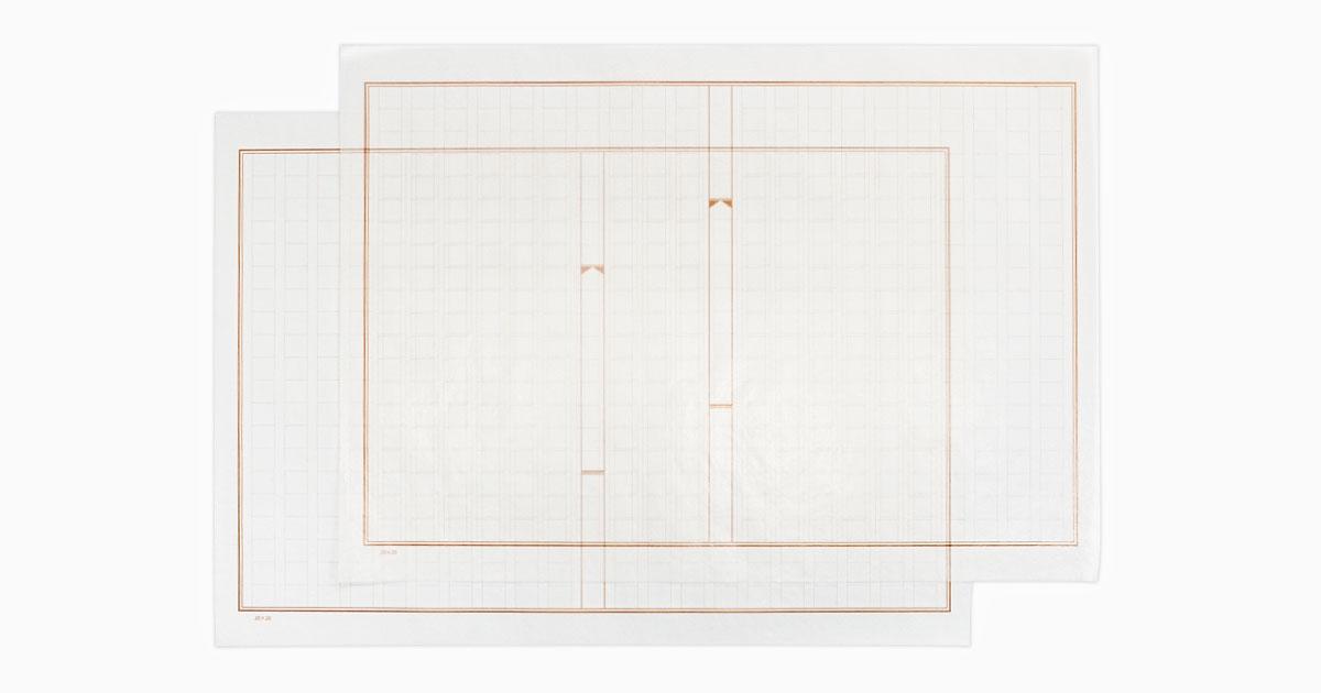 グラシンペーパー 原稿用紙柄 / 297×210mm