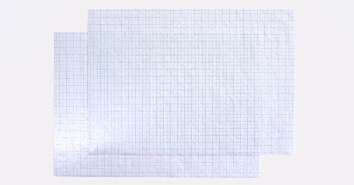 グラシンペーパー 方眼紙柄 / 297×210mm