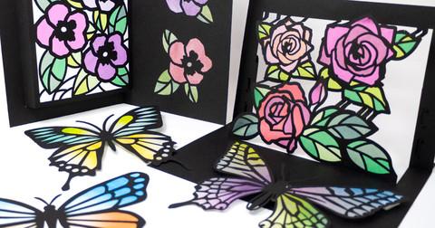 紙を楽しもう!「グラシン紙で色づけるカラー切り絵」公開