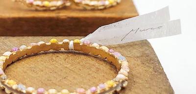 Muro glass jewelry / リボン / Chisato Muro様