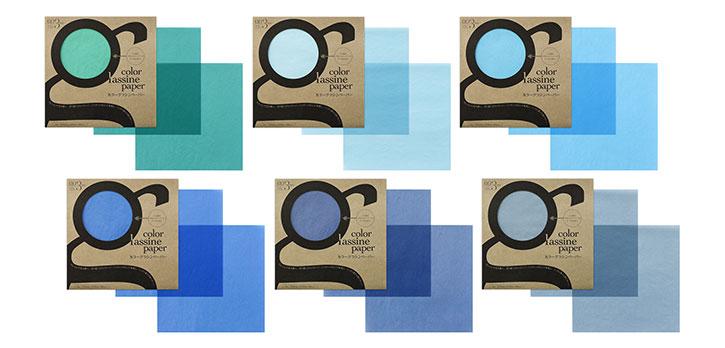 24色カラーグラシンペーパー / 色紙 / 吉田印刷所
