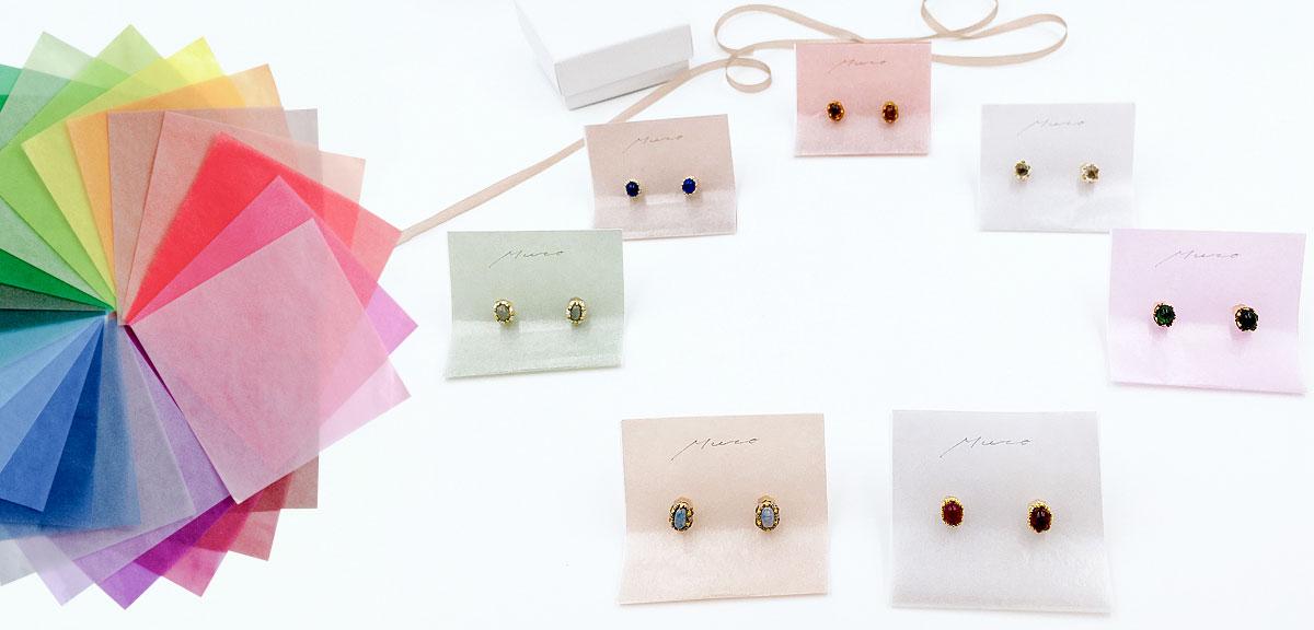 Muro glass jewelry / ジュエリー台紙 / Chisato Muro様