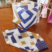 富山の薬売りが配っていた四角い紙風船を作ってみた