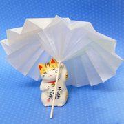 グラシンの折り紙で和傘を作ってみました