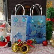 グラシンミニバッグのクリスマスバージョンを作ってみました