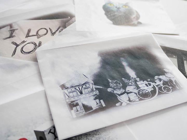 """3種類の""""ふた""""で楽しむグラシン封筒。横型タイプ写真コレクション"""