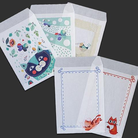 グラシン封筒が50種類以上! 縦型タイプ写真コレクション