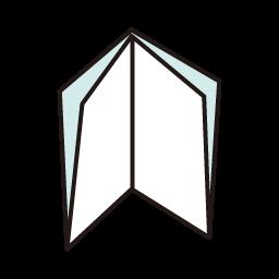 直角四つ折り|ポスターオプショ...