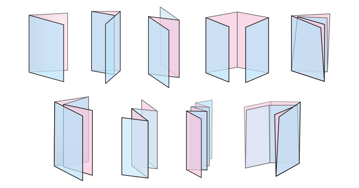 折り加工について[二つ折り・巻き三つ折り・外三つ折り・観音折りなど]