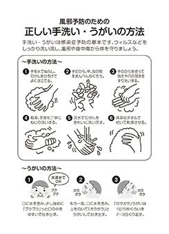 C.正しい手洗い・うがいの方法